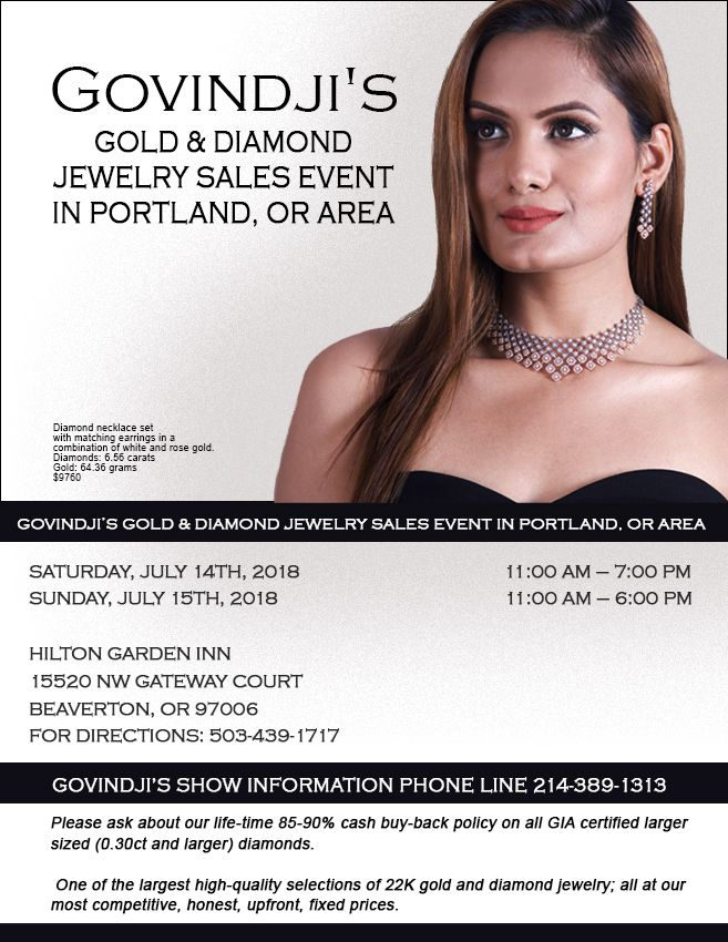 GOVINDJIS Gold and Diamond Jewelry Sales Event in Portland