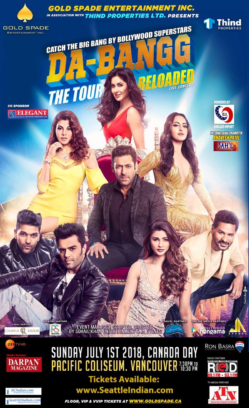 Dabangg Reloaded - Salman Khan, his leading ladies along with Prabhu Deva, Guru Randhawa