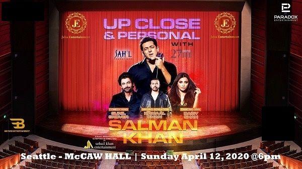 Salman Khan - Up Close and Personal 2020 Seattle- POSTPONED